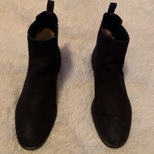 Black Suede MK Ankle Booties size 10